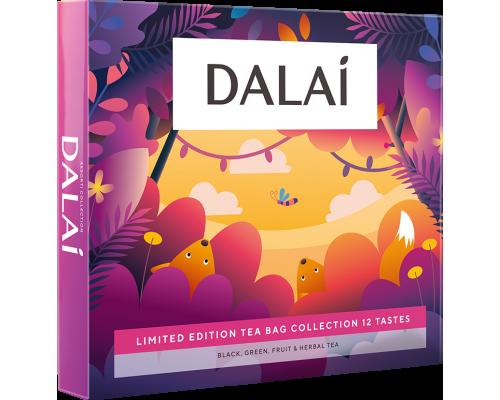 Чай Dalai Ассорти 12 вкусов в подарочной упаковке , 60 саш.
