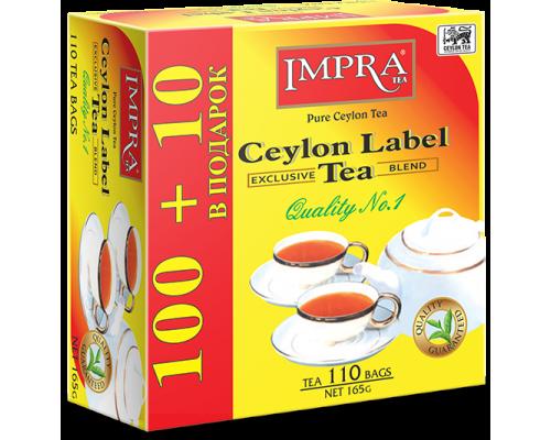 Чай Impra Ceylon Label Tea  100+10 пак.