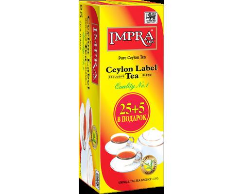 Чай Impra Ceylon Label Tea  25+5 пак.