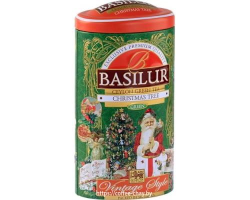 """Чай зеленый Basilur Винтаж  """"Рождественская ёлка"""" (Vintage style """"Christmas tree"""") 100 г"""